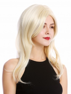 Perücke Damenperücke schulterlang glatt Mittelscheitel Blond Hellblond Blond Mix