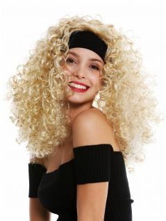 Perücke Damen Karneval Stirnband lang gelockt lockig voluminös blond