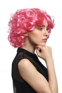 Perücke Damen Karneval Fasching Cosplay kurz pink rosa Locken Volumen Popstar - Vorschau 4