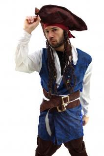 Kostüm Pirat Herren Karibik Freibeuter Piratenkostüm Jack Carribean Pirates K19 - Vorschau 5