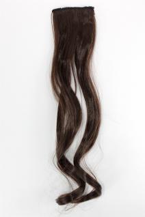 2 Clips Extension Strähne wellig Braun YZF-P2C18-6 45cm Haarverlängerung