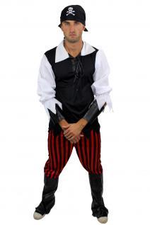 Komplettset: Kostüm Herren Herrenkostüm Pirat Freibeuter Störtebeker L013