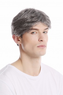 Herrenperücke Perücke Männer Kurz Jugendlich Lässig Modisch grau dunkelgrau 44