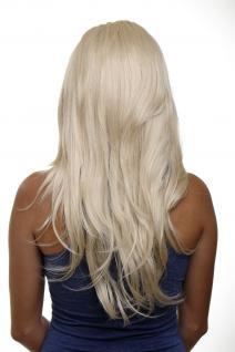 Clip-in Haarteil mit 7 Klammern 3/4 Perücke Blond Lichtblond ca. 60cm H9505-88