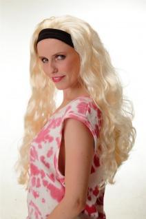 Karneval Perücke festes Stirnband Hellblond Extrem Lang Volumen Mähne 68381-P88 - Vorschau 2