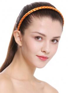 Haarband Haarreif geflochten Tracht traditionell orange braid CXT-004-388