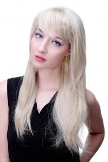 Perücke mit bezauberndem variablen Pony oder Scheitel helles blond lang 3280-22