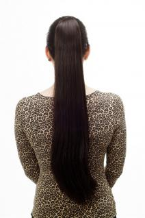 Haarteil/Zopf, sehr lang, glatt, Butterfly-Klammer, ca 70cm, Dunkelbraun, T113-3