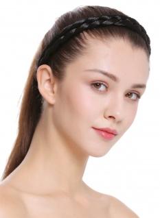 Haarband Haarreif geflochten Tracht traditionell schwarzbraun braid CXT-006-002