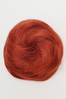 Haarteil Dutt Haarknoten 60er Jahre Vintage Look sehr groß Rot Kupfer NHA-004C - Vorschau 2