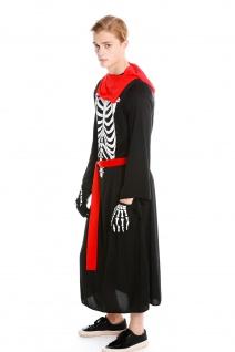 Kostüm Herren Damen Halloween Skelett Knochengerippe Mönch Zombie Dämon Gr. S/M - Vorschau 4