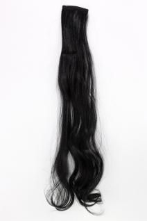 2 Clips Extension Strähne wellig Schwarz YZF-P2C25-1 65cm Haarverlängerung