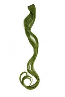1 Clip Extension Strähne Haarverlängerung wellig Olivgrün 63cm YZF-P1C25-T2609