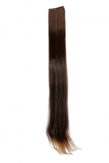 2 Clips Strähne glatt Dunkel-Rot-Braun YZF-P2S25-2T30 65cm Haarverlängerung
