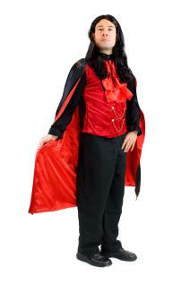 DRESS ME UP - Kostüm Herren Dracula Vampir Dunkler Graf Barock Mittelalter L061