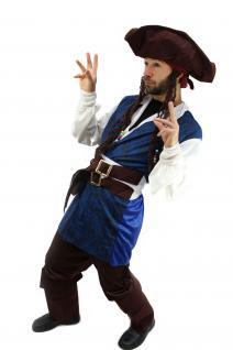 Kostüm Pirat Herren Karibik Freibeuter Piratenkostüm Jack Carribean Pirates K19