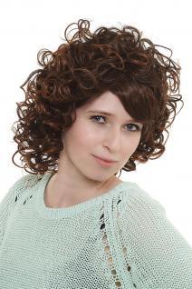 Damen Perücke Wig wild postmodern gelockt Braun-Mischung Kastanie 35cm 2301-2T30