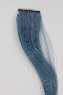 1 Clip Extension Strähne Haarverlängerung wellig Kobaltblau 45cm YZF-P1C18-T2913