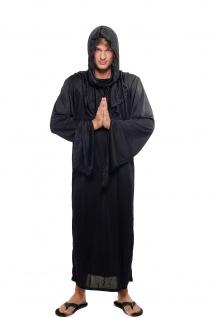Kostüm Herren Damen Unisex Hexer Henker Schwarzer Magier Dämon Priester L047