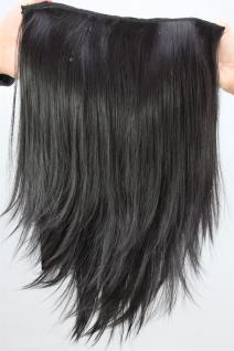 Haarteil/Halbperücke, 7 Klammern, schwarz, Clip-In, Länge ca. 50 cm, H9514-2
