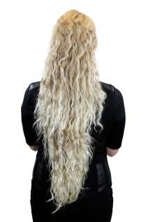Sehr langer voluminöser Pferdeschwanz mit kinky Locken Blond-Mix N838-15BT613