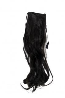 Haarteil ZOPF Dunkelbraun wellig 45cm YZF-TC18-4 Band Klammer Haarverlängerung