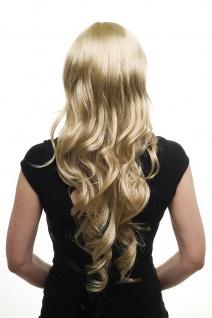 Damenperücke Perücke lang wellig etwas gelockt hellblond blond Scheitel 3274-234 - Vorschau 3