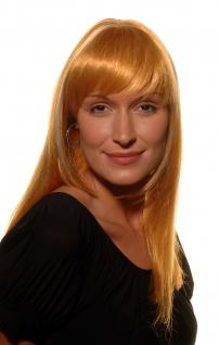 Damen Perücke FEMME FATALE Diva rot mit blonden Strähnen glatt Pony 9250-144H613