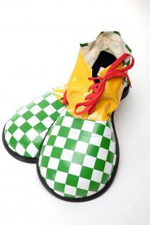 Karneval Zirkus Kinderparty Übergroß Clownschuhe Clown grün weiß kariert VQ-026E - Vorschau 2