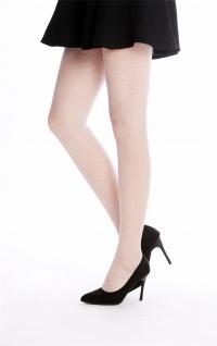 Netz-Strumpfhose Pantyhose Damenkostüm Karneval Halloween weiß S/M W-020B-white - Vorschau 2