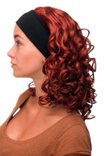 Damenperücke Perücke Stirnband voluminös Locken Rot Kupferrot BRO-704-350