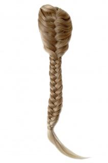 Haarteil geflochtener Zopf Pferdeschwanz lang traditionell Klammer Blond Mix
