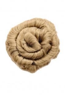Haarteil Haarrose Haardutt Dutt Bun blond aschblond spiralförmig 14 cm 90047L-24