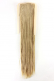 Haarteil ZOPF Blond glatt 45cm YZF-TS18-86 Band Haar Klammer Haarverlängerung