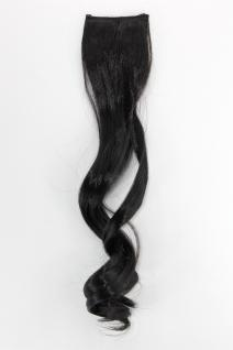 2 Clips Extension Strähne wellig Dunkelbraun YZF-P2C18-3 45cm Haarverlängerung