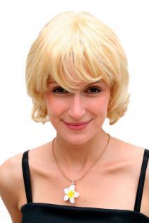Damenperücke, blond, kurzes Haar, gewellter Bob, Haarersatz, ca 25 cm, 26826-611