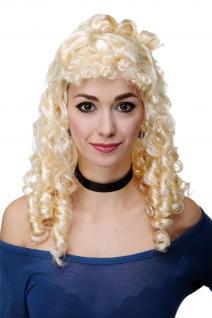 Perücke Fasching Karneval Biedermeier Renaissance Korkenzieherlocken Blond RJ048