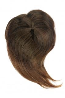 Haarteil Clip-In Haaraufsatz Toupet Mittelbraun/Dunkelblond gesträhnt L-057-6T30