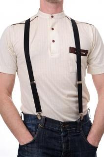 DRESS ME UP - Halloween Karneval Hosenträger Suspenders Schwarz W-061B-black