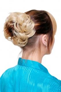 Haarteil Kunsthaar Scrunchie Scrunchy Haarband Blond Hellblond TC-2020-88B