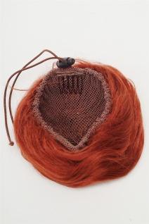 Haarteil Dutt Haarknoten 60er Jahre Vintage Look sehr groß Rot Kupfer NHA-004C - Vorschau 3