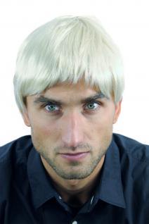Perücke Herrenperücke Männer kurz Hellblond Blond fransiger Schnitt WL-3037-88