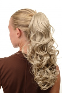 Haarteil Zopf Pferdeschwanz lockig voluminös hellblond blond SA080-202