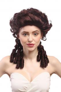 Perücke Damen Karneval Barock Renaissance Romantik Spiral Locken toupiert braun