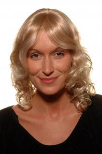 Damen, Perücke, KRÄFTIGES BLOND, romantisch, Haarschnitt, Scheitel, 35 cm, 4019-27T613