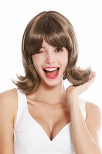 Damenperücke Perücke Damen kurz geschwungene Spitzen 50er 60er Retro Braun