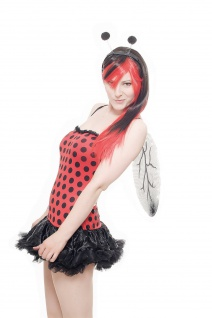 Kostüm Damen Komplett-Set Sexy Marienkäfer Ladybug Ladybird L040