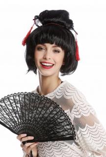 Perücke Schwarz Karneval Japan Geisha Maiko China Chinagirl Asiatin Dutt