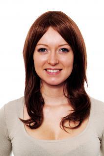 Kastanienbraune Perücke mit Mittelscheitel, glatte Haare 45 cm H9520-30/33(597)