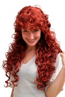 Damenperücke rot lang gelocktes Haar Perücke mit Locken ca. 65 cm Wig 9229-350